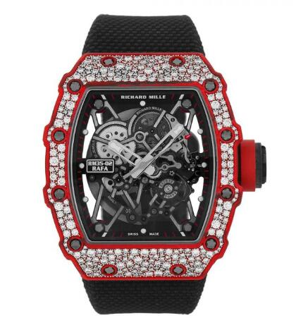 Richard Mille RM35-02 Red Quartz-TPT Diamonds Replica Watch