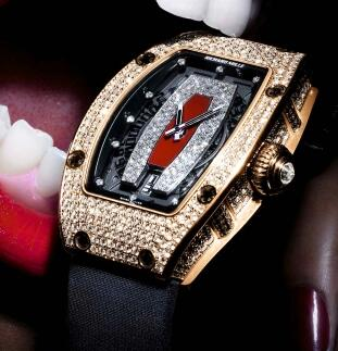 Richard Mille Replica Watch RM 007 red gold diamond