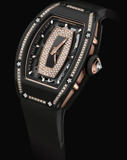 Richard Mille Replica Watch RM 07-01 Gem-Set Black Ceramic