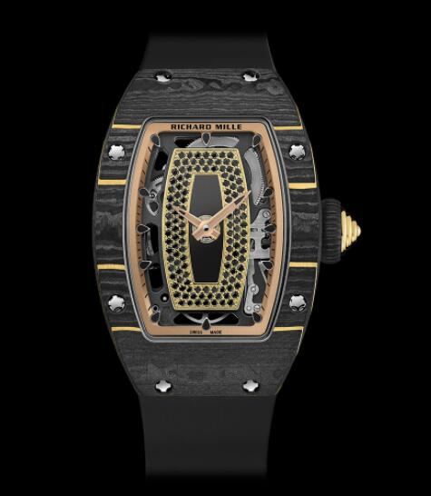Best Richard Mille RM 07-01 Ladies Gold Carbon TPT Replica Watch