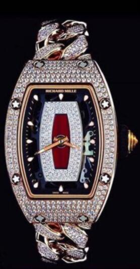 Best Richard Mille RM 07-01 diamond Rose Gold Replica Watch