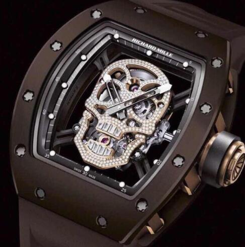Richard Mille RM 52-01 Skull Diamonds Tourbillon Ceramic Replica Watch