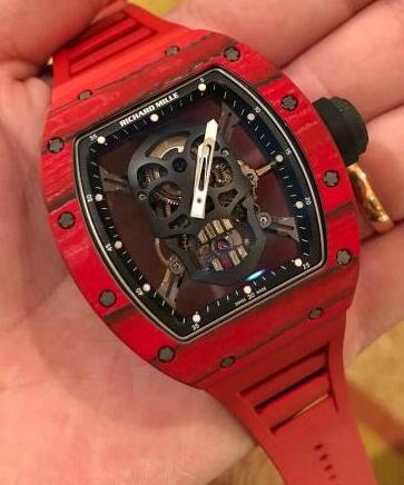 Richard Mille RM 52-01 Skull Red Quartz TPT Tourbillion Replica Watch