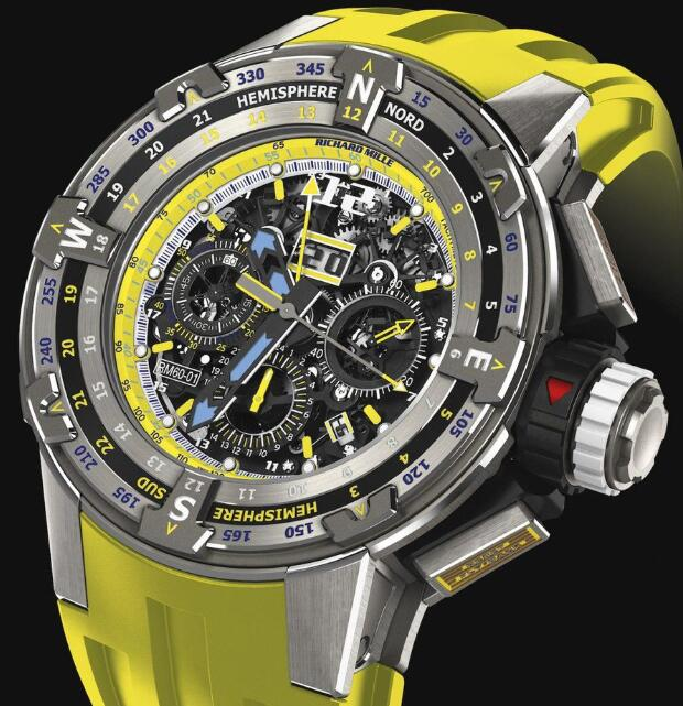Richard Mille RM 60-01 Regatta Flyback Yellow Replica Watch
