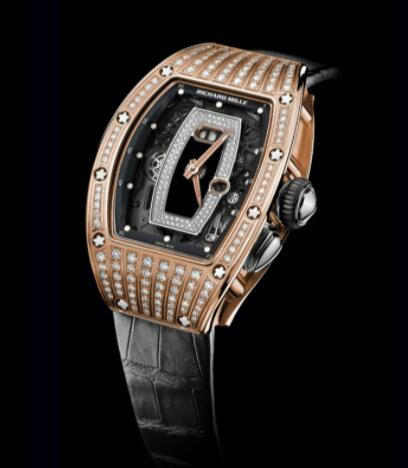 Best Richard Mille RM037 Ladies Rose Gold diamond Replica Watch