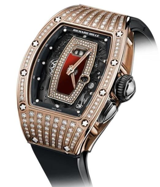 Best Richard Mille RM037 Rose Gold diamond Replica Watch