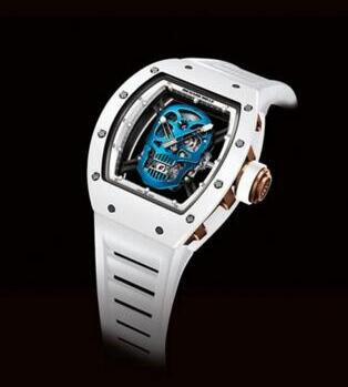 Richard Mille RM052 Blue Skull Toutuo flywheel Replica Watch
