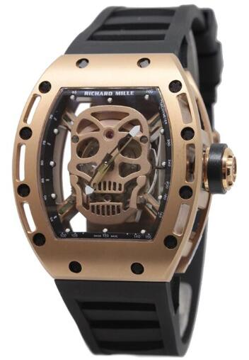 Richard Mille RM052 Skull Rose Gold Replica Watch