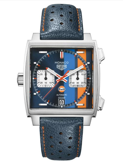 Tag Heuer Monaco Calibre 11 Automatic Chronograph Gulf Special Edition Replica Watch CAW211R.FC6401