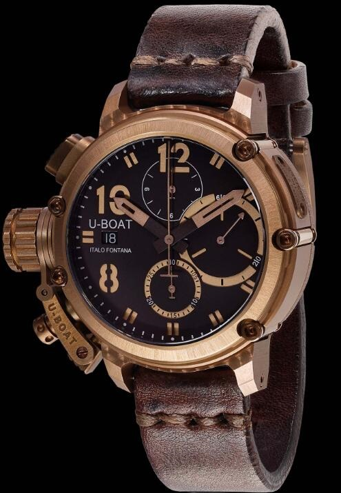 U-BOAT CHIMERA 43 BRONZE CHRONO 8014 Replica Watch
