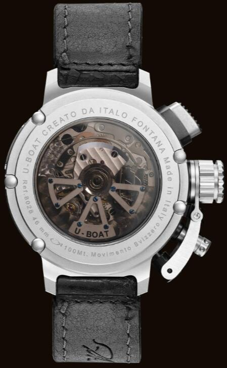 U-BOAT CHIMERA 46 SS SKELETON 8028 Replica Watch