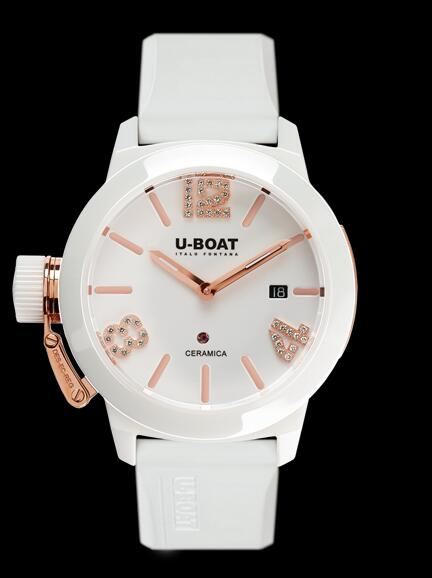 U-BOAT CLASSICO 42 CERAMIC WT ROSE GOLD 7125 Replica Watch