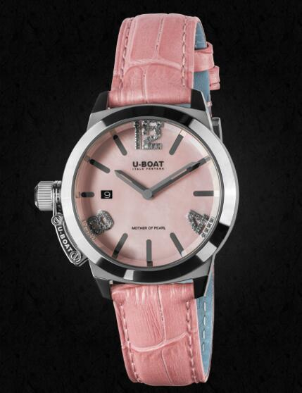 U-BOAT CLASSICO 38 Pink Mother of pearl 8480 Replica Watch