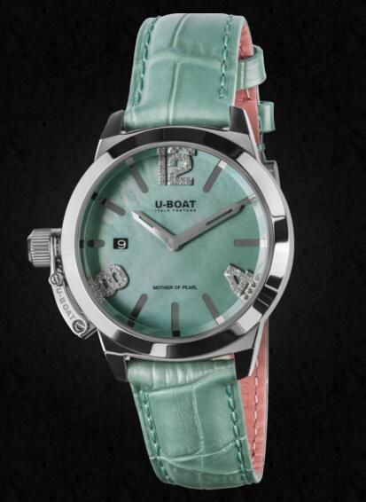 U-BOAT CLASSICO 38 Turquoise Mother of pearl 8481 Replica Watch