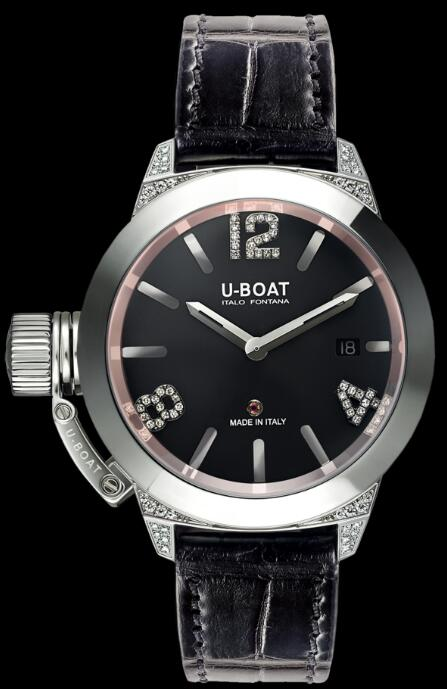 U-BOAT CLASSICO 40 SS WHITE DIAMONDS 6950 Replica Watch