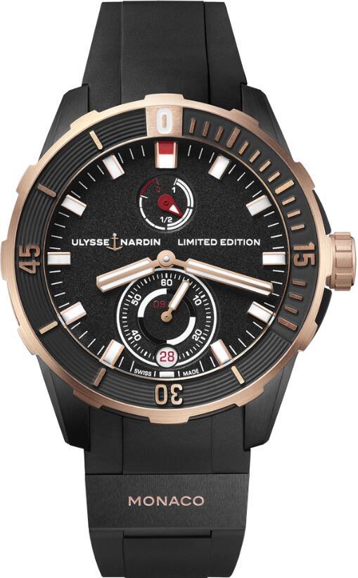 Ulysse Nardin Diver Chronometer Monaco 1185-170LE-3/BLACK-MON Replica Watch