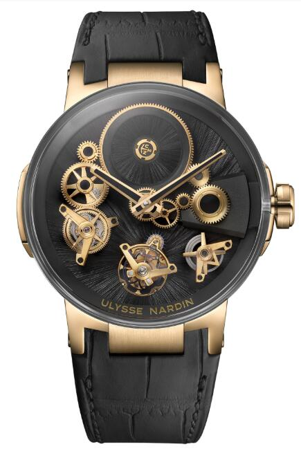 Ulysse Nardin Executive Tourbillon Free Wheel Straw Marquetry 1766-176LE/STRAW Replica Watch