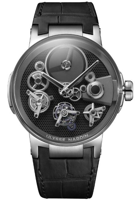 Ulysse Nardin Executive Skeleton Tourbillon Free Wheel 1760-176 Replica Watch