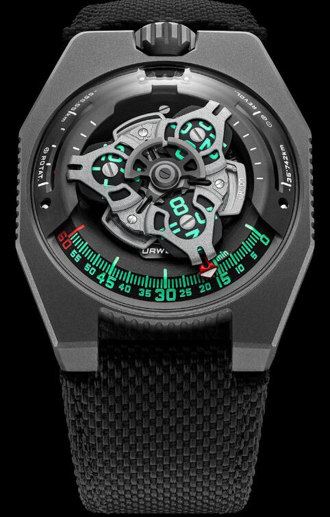 Urwerk UR-100 GunMetal Watch Replica