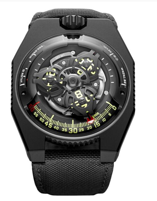 Urwerk 100 Watch Replica UR-100 SpaceTime Black