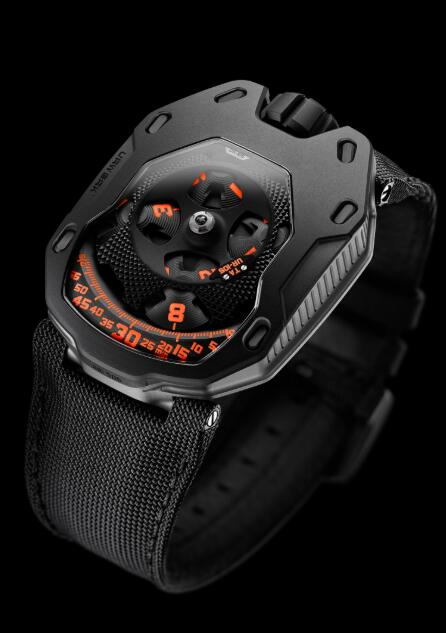 Urwerk Watch Replica 105 Clockwork Orange collection UR-105 TA