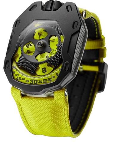 Urwerk Watch Replica 105 collection UR-105TA Black Lemon