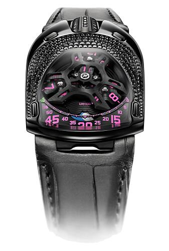 Urwerk Watch Replica 106 collection UR-106 BLACK PINK