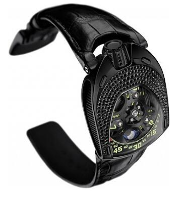 Urwerk Watch Replica 106 collection UR-106 Black Lotus