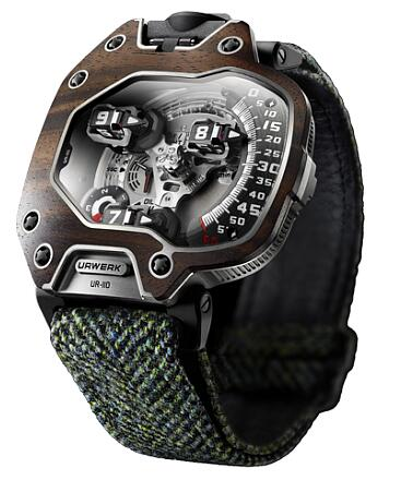 Urwerk Watch Replica 110 collection UR-110 Macassar Ebony