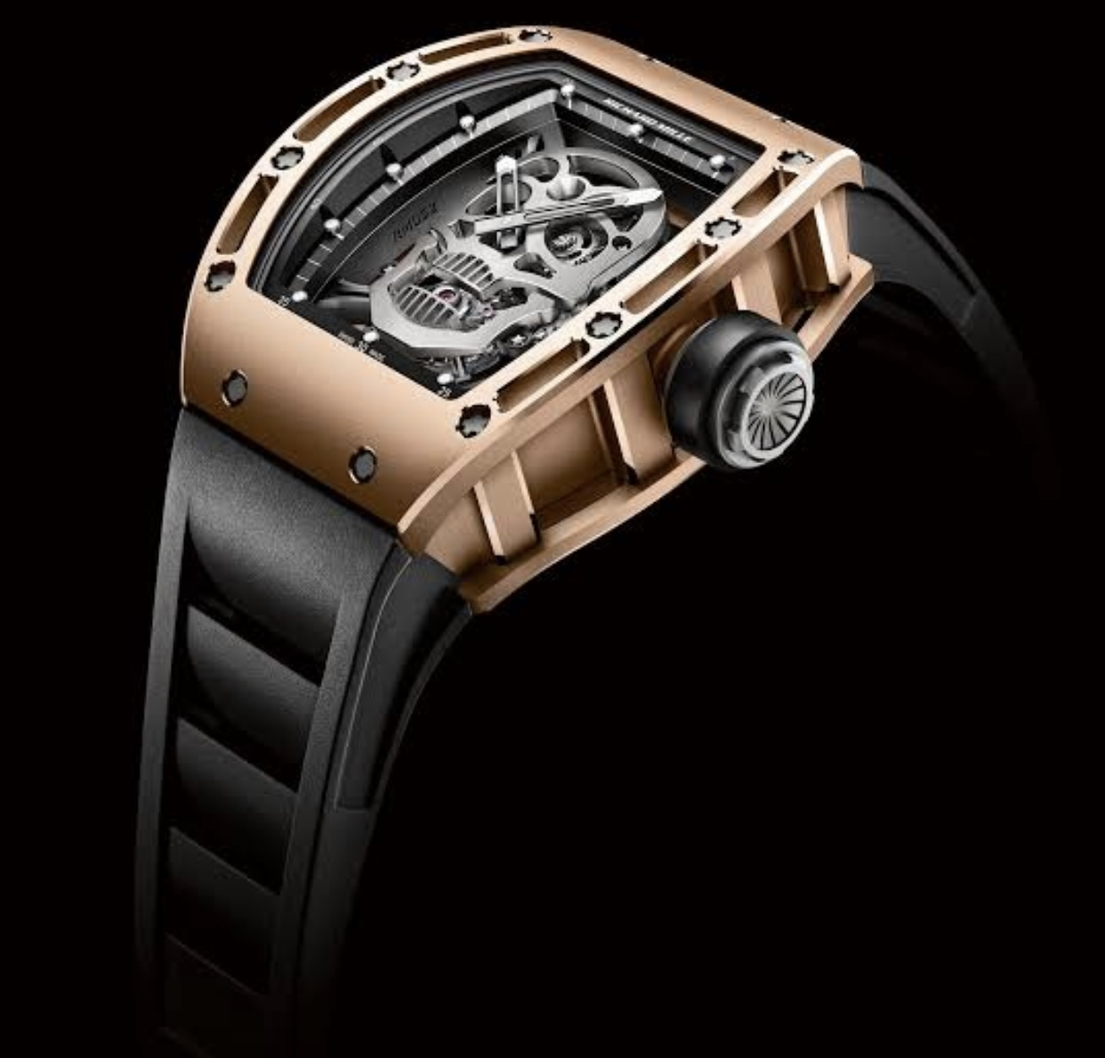 Richard Mille Rm 052 skull tourbillon rose gold watch